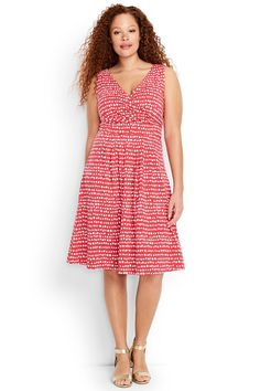 6995433d460d Try our Women s Plus Size Fit and Flare Dress at Lands  End. Everything we  sell is Guaranteed.