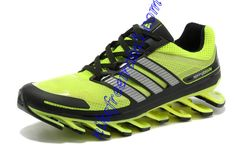 finest selection dd26c 6d902 Shoes For Men Neon Green Adidas New Springblade Silver Black Yeezy,  Athletic, Running Shoes