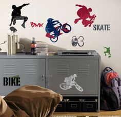 Extreme Sports Peel & Stick Wall Decals Wall Decal at AllPosters.com
