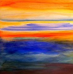 Orange & Blue abstract