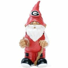 """NCAA Georgia Bulldogs Garden Gnome by Forever Collectibles. $17.99. Officially Licensed by the NCAA. 11.5-Inch Tall. Hand Painted. Raised Team Logo. Forever Collectibles Team Gnomes stand 11.5"""" tall and are hand-painted with raised logo on the hat. These gnomes are great for decorating your garden or to show off your team support at home. Comes in all of your favorite Professional and College Teams!"""