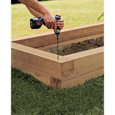 Excellent step by step DIY for how to build raised planter boxes from This Old House - stagger corners to increase stability, especially if putting a seat on top.