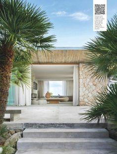 House in Mallorca Modern Exterior, Exterior Design, Cafe Exterior, Exterior Shutters, Modern Coastal, Facade House, House Facades, House Goals, Modern Houses