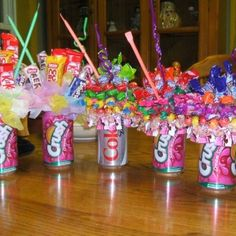 Cute soda can candy gifts..end of year teacher gifts