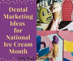 Dental Marketing Ideas for Ice Cream month July dental marketing ideas tooth sensitivity teeth sensitive to eating ice cream or cold foods/drinks