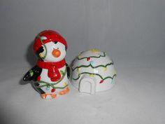Vtg Russ Berrie 15705 Penguin Iglue s P Shakers Cute Holiday Kitchen Decor Piggy Bank, Penguin, Kitchen Decor, Ebay, Holiday, Check, Vacations, Money Box, Money Bank
