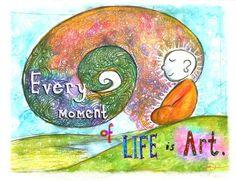 An inspiring illustration from Molly Hahn of Buddha Doodles. Tiny Buddha, Little Buddha, Buddha Buddha, Jiddu Krishnamurti, Zen, Buddah Doodles, Buddha Wisdom, Buddha Sayings, Multimedia Artist