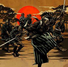 Samurai Illustration by Dragon76