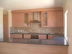 U-shaped granite countertop