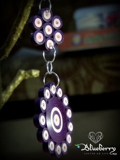 Pink Purple Quilling Earring