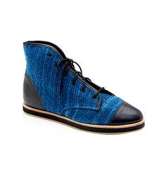 Loeffler Randall Octavia High Top Sneakers ($295) in Indigo Denim