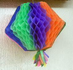 Como fazer balão colmeia para festa junina