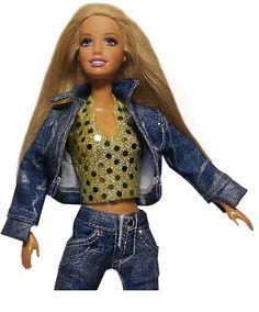 Denim jacket and pants size barbie