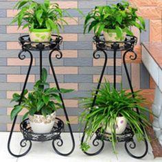 Balkon – home accessories Indoor Garden, Garden Pots, Indoor Plants, House Plants Decor, Plant Decor, Wrought Iron Decor, Flower Stands, Plant Holders, Garden Furniture