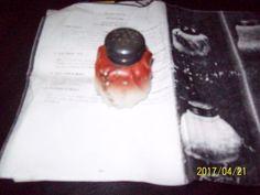 Erie Twist Mold Blown Opaque Glass Circa 1892-1905 Salt Shaker Rare, Antique #CarlHelmschmeid