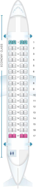 Seat Map Darwin Airline ATR 72 500