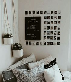This Minimalist Dorm Room Makeover Is Absolutely Beautiful . Minimalist Dorm Decorating Ideas Along With Compact . 20 College Dorm Room Ideas To Channel Your Inner . Home and Family Cute Room Ideas, Cute Room Decor, Diy Room Ideas, Wall Ideas For Bedroom, Picture Room Decor, Bedroom Bed, Master Bedroom, Diy Wall Decor For Bedroom, Decor For Walls