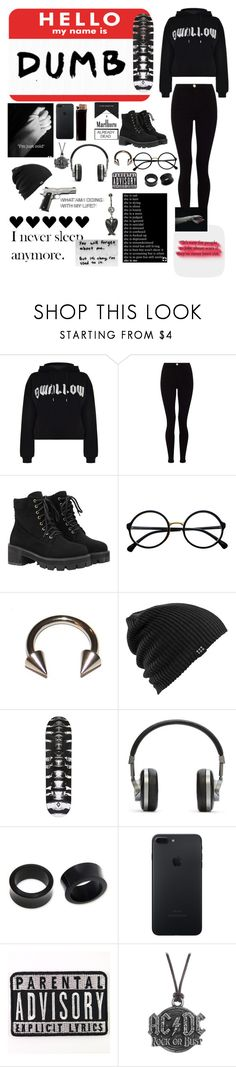 """""""Dumb"""" by pan-slytherin-unicorn-materialki ❤ liked on Polyvore featuring McQ by Alexander McQueen, Lipsy, WithChic, Retrò, GAS Jeans, Burton, County Of Milan, Master & Dynamic, NOVICA and AC/DC"""