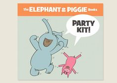 elephant and piggie party kit