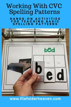 """These """"CVC Words"""" Binder Activities provide students with basic practice for spelling CVC words. This set focuses on short e words and includes real photos. There are three sets included for three different levels of differentiation--or to allow students to move through the levels as they master them. Sight Word Spelling, Cvc Words, Preschool Literacy, Preschool Letters, Kindergarten, Short E Words, Three Letter Words, Spelling Patterns, Reading Intervention"""