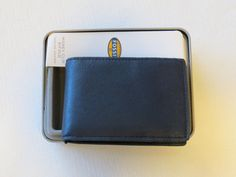 ML3617400 Truman Money Clip Bifold Navy blue Mens Fossil credit card ID leather…