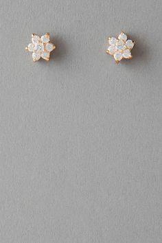 Vista Floral Crystal Stud Earrings