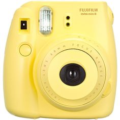 FUJIFILM Instax Mini 8 Camera Yellow Target Australia (€64) ❤ liked on Polyvore featuring fillers, camera, accessories, yellow, electronics, backgrounds and magazine