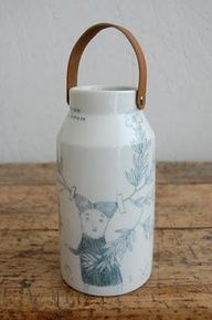 Beautiful milk bottle illustrated by Joanna Concejo