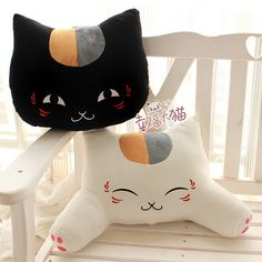 Hot Sell Office Cute White And Black  Cat Pattern Lumbar Car Waist Pillow/Cushion Soft Backrest Cushion Free ShippingF13184 $19.90