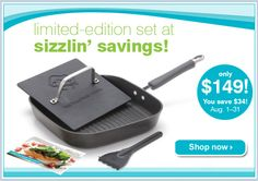 Pampered Chef special of the month! I LOVE my grill pan! This is a great buy during March only!