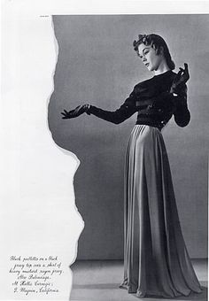 Cristóbal Balenciaga 1940 Dinner Dress, Photo Man Ray