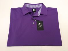Footjoy XL Men's Purple Short Sleeve Golf Shirt Polyester Spandex NEW NWT #FootJoy #PoloRugby