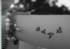 tattoo wrist little birds Little Bird Tattoos, Girly Tattoos, Tatoos, Hand Tattoos For Women, Mom Day, Little Birds, Tattoo Designs, Tattoo Ideas, Tatting