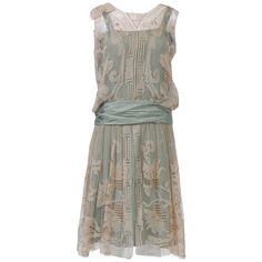 1920s ECRU LACE DRESS found on Polyvore