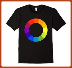 Mens Color Circle Palette Shirt Artist Painter Art Teacher Tshirt Large Black - Careers professions shirts (*Partner-Link)