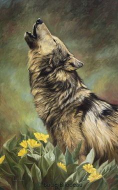 """Call of the Wild"", oil on canvas, 32"" x 20"", by Lucie Bilodeau."