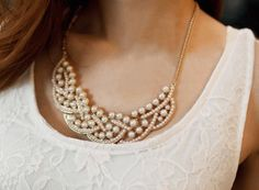 Pearl Pedal Fashion Necklace | LilyFair Jewelry, $11.99!