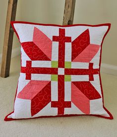 ~ tutorial ~ Fair Isle quilted pillow by Lee at We All Sew