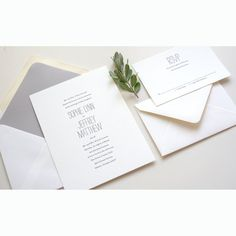 SAMPLE Minimalist Chic Letterpress Wedding by luckypennypaperie