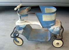 """My wife and I picked up an old metal stroller at a flea market recently, and decided it needed to come home with us in preparation for an upcoming grandchild! These old metal strollers were popular in the early '50""""s, and were built like tanks. Unfortunately, however, even tanks start rusting after they're abandoned. Most of these old strollers eventually found their way into backyards, barns, and junk piles after they were no longer needed. This stroller had begu..."""
