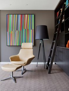 This project enabled us to encapsulate planning, art collation and placement as well as sustainable custom items throughout. Mim Design, Joinery, Custom Items, Installation Art, Pastel Colors, Lounge, Interior Design, Chair, Art Decor