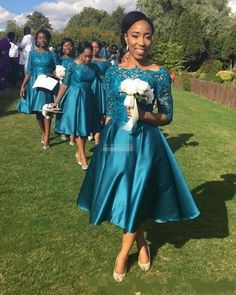 Bohemian Hippie Bridesmaid Dresses 2017 Teal Lace Maid Of Honor Gowns Formal Wedding Guest Dress Half Sleeve Tea-length Cheap A-line Hippie Bridesmaid Dresses, Turquoise Bridesmaid Dresses, Bridesmaid Dresses With Sleeves, Half Sleeve Dresses, Long Wedding Dresses, Half Sleeves, Formal Wedding, Dress Wedding, Prom Dresses