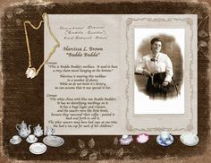 Narcissa L. Brown...document family heirlooms with photos, stories and traditions of passing it down to others. Sharing this information with younger family members brings new meaning to the heirloom and makes it that more precious.