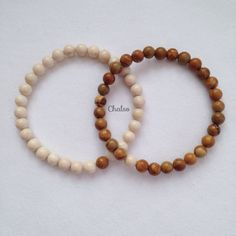 Couple bracelets. You complete Me  These two complimentary bracelets are made with smooth 6mm Jasper, semiprecious beads. The cream stones are Fossil