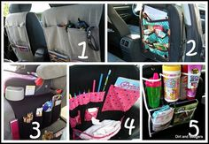 Lots of ideas for organizing your stuff in the car. I have got to start doing this..