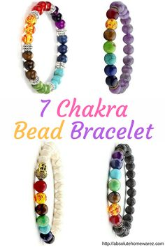 Elegant chakra bracelet with natural gemstones and sterling silver clasp. Promotes beauty, health, good luck, and healing. Wear for reiki, yoga, prayer, mediation, and for fashion.