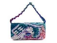 Chanel Multicolor Quilted Canvas Watercolor Pochette Flap Bag