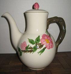 Vintage Franciscan Desert Rose Dinnerware | Franciscan Desert Rose Coffee Pot from whiterose-rl on Ruby Lane