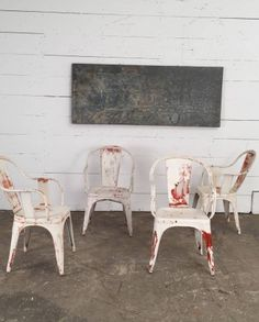 Tolix C Painted Chairs