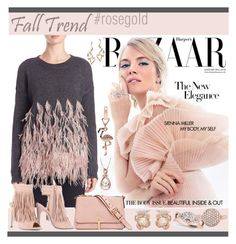 """""""Fall Jewelry Trend: Rose Gold"""" by yours-styling-best-friend ❤ liked on Polyvore featuring Elizabeth and James, Chase & Chloe, Anabela Chan, Effy Jewelry, Allurez and FOSSIL"""